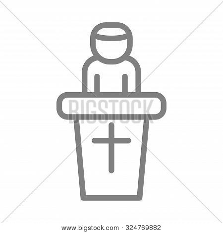 Simple Preacher Pastor Modern Isolated Icon Vector Illustration