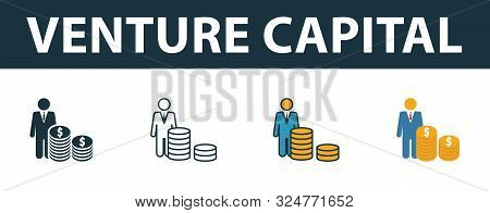 Venture Capital Icon Set. Premium Symbol In Different Styles From Startup Icons Collection. Creative