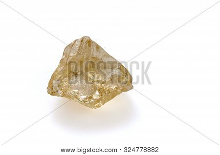 Mineral Rauchtopaz On A White Background. Smoky Quartz. Smoky Crystal. Decorative And Ornamental Sto