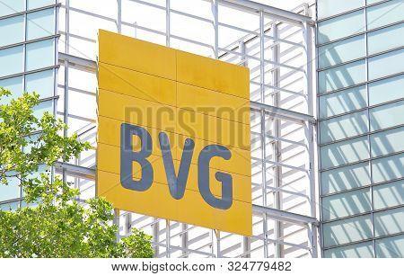 Berlin Germany - June 9, 2019: Bvg Berlin Transport Company Berlin Germany