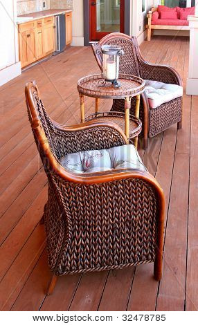 Typical Lanai (patio) On Maui, Hawaii