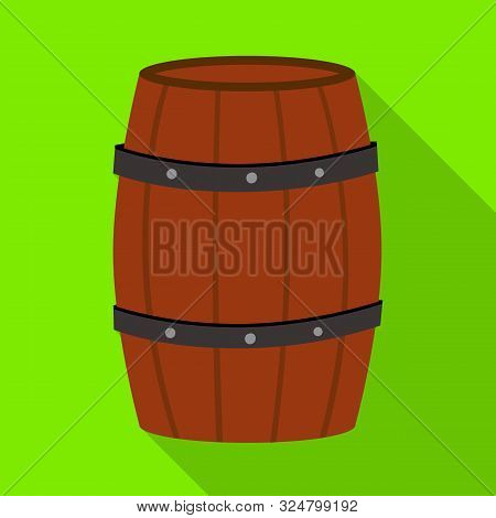 Vector Design Of Cask And Wine Logo. Collection Of Cask And Wooden Vector Icon For Stock.