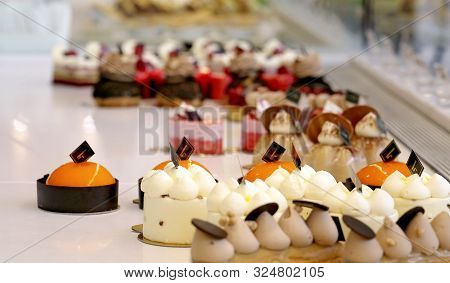 Brisbane, Queensland, Australia - 26th September 2019: Decadent Desserts For Sale In A Coffee Shop