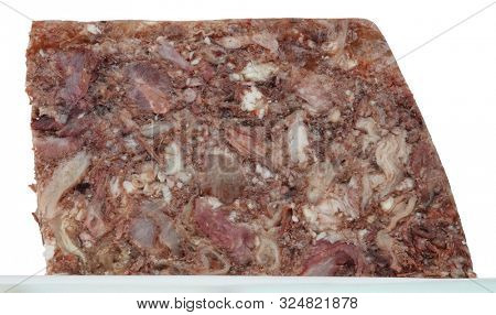 Meat meal with different parts head cheese brawn meal appetizer