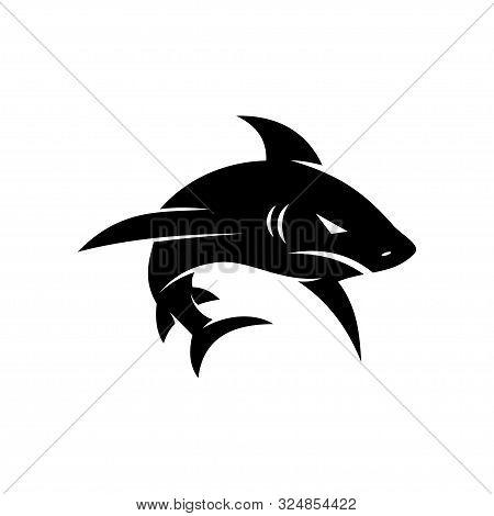 Black Shark Logo Design Vector Isolated Modern Template