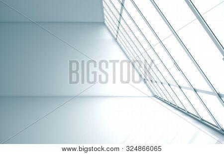 Empty Interior With Concrete  Floor