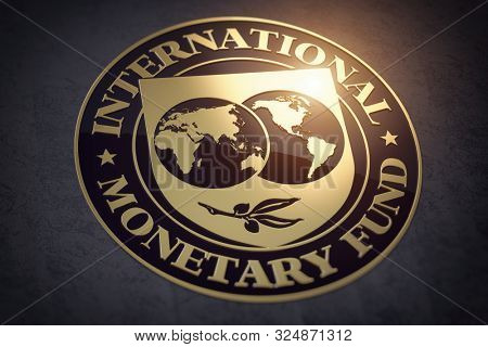 IMF International Monetary Fund symbol or sign. 3d illustration
