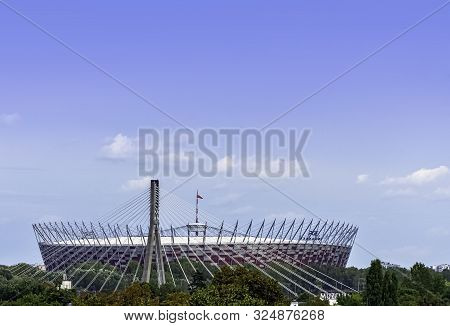 Warsaw, Masovia, Poland - August 14: View Of Pge Narodowy Or National Stadium On August 14, 2019 In