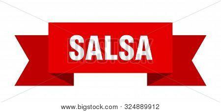 Salsa Ribbon. Salsa Isolated Sign. Salsa Banner