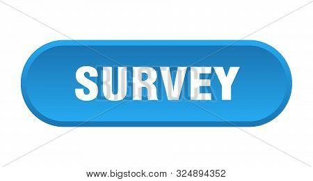 Survey Button. Survey Rounded Blue Sign. Survey