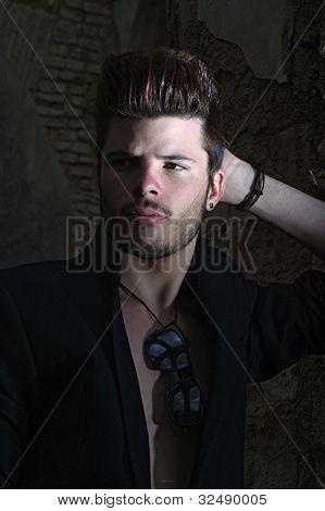 In a black jacket 2
