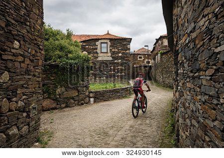 Penafiel, Portugal - September 29, 2019: Quintandona, A Portuguese Village Of Singular Architecture
