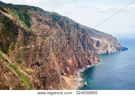 The Cliff Diving Into The Ocean At Ponta Do Pargo In Madeira