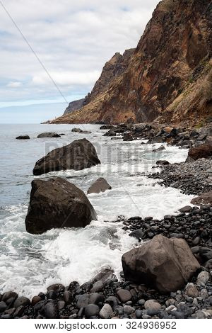 A Pebble Beach On The Cost Of The Island Of Madeira