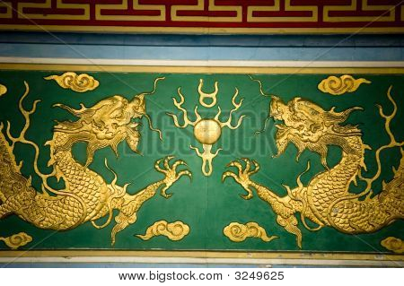 Golden Dragons Pattern