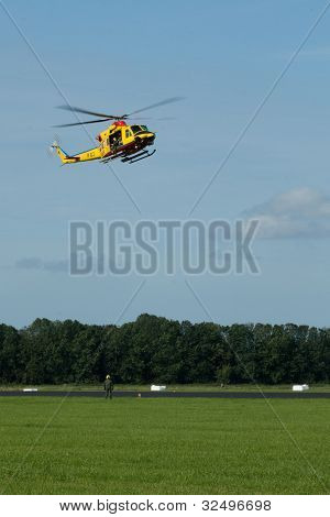 Agusta AB-412 SP SAR Helicopter demonstrates rescue