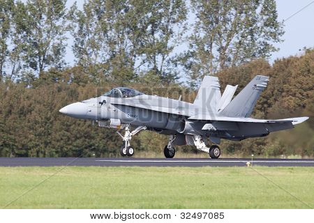 F/A-18 Hornet taking off