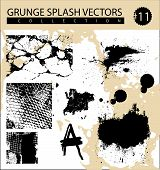 a wide collection of grunge splash vectors poster