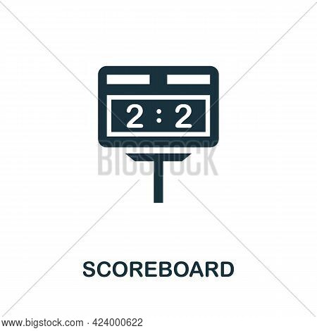 Scoreboard Flat Icon. Colored Filled Simple Scoreboard Icon For Templates, Web Design And Infographi