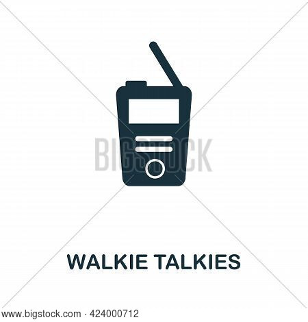 Walkie Talkies Flat Icon. Colored Filled Simple Walkie Talkies Icon For Templates, Web Design And In