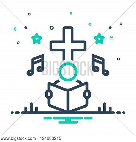 Mix Icon For Hymn People Religious-song Psalm Homily Melodious
