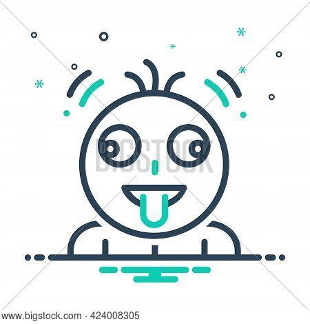 Mix Icon For Fruitloop Emoji Character Tongue Greedy