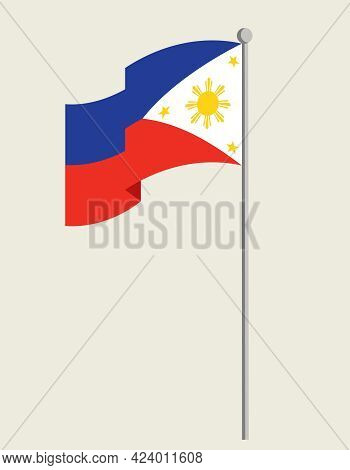 Flag Of The Philippines. State Symbol In Flat Style.
