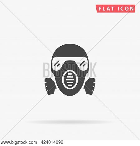 Gas Mask, Respirator Flat Vector Icon. Hand Drawn Style Design Illustrations.