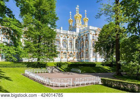 Resurrection Church Of Catherine Palace In Tsarskoe Selo (pushkin), Saint Petersburg, Russia