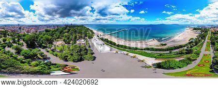 Beautiful 360 Degree Panoramic View Of The Burgas Bay And The Burgas Sea Garden, Bulgaria.