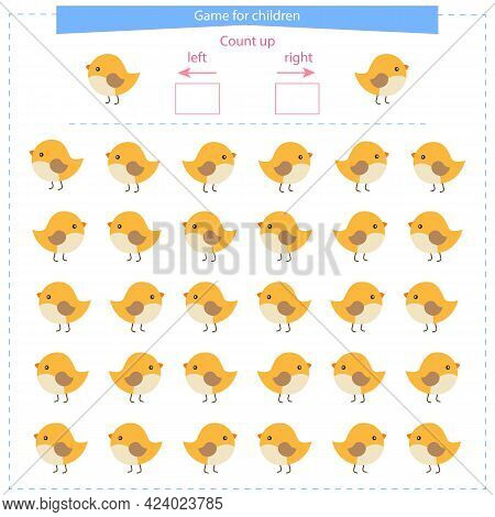 A Game For Children. Orientation In Space. Learning To Distinguish Right, Left. Vector Illustration