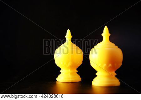 Chess Game Competition Business Concept, Business Competition Concept Fighting