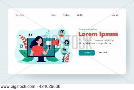 Happy Customers Participating In Referral Program In Internet Flat Vector Illustration. Cartoon New
