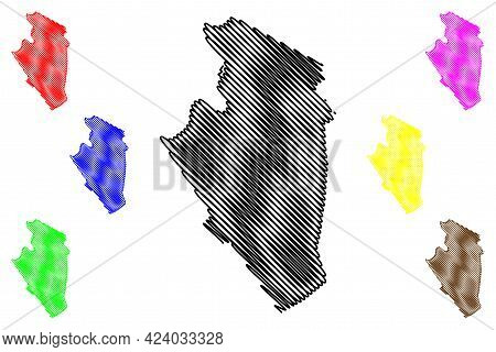 Jackson County, State Of West Virginia (u.s. County, United States Of America, Usa, U.s., Us) Map Ve