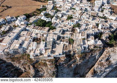 Folegandros Island, Greece, Cyclades. Aerial Drone View