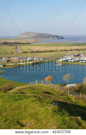 Brean Down and Uphill boat yard Somerset