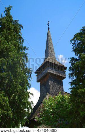 Old church in Poienile Izei village, Maramures county, northern Romania, Europe