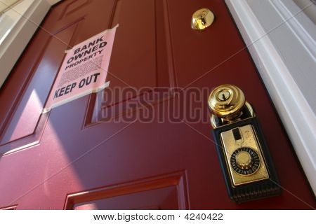 Real Estate Bank foreclosure Notice and Lock Box