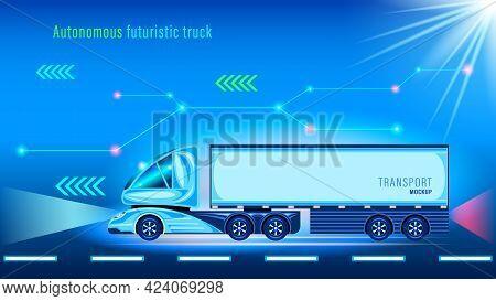 Futuristic Autonomous Smart Futuristic Truck Unmanned Vehicle