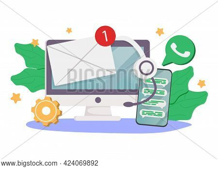 Help Line Abstract Concept Vector Illustration. Customer Self-service, Get In Touch, Call Center, On