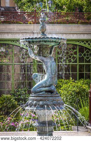 Bronze Statues Of The Fountain In Park Near The Schwerin Castle (or Schwerin Palace) (german: Schwer