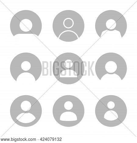 Default Avatar Profile Icon Set Collection. Social Media User Symbol Vector