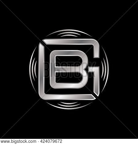 Letter Gb Logo Free Vector Stock. Dish Abstract Design Concept. Can Be Used As A Symbol Associated W