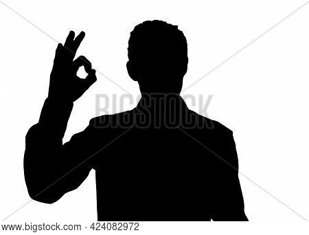 Man Covering Gesturing Ok. I'm Fine. Are You Okay Consent Sign And Signal That Everything Is Fine Or