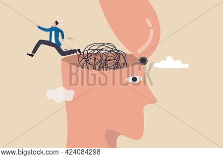 Escapism, Escape From Depressed Mind Impacted By Covid-19 Pandemic, Exit Or Leave Depression, Anxiet