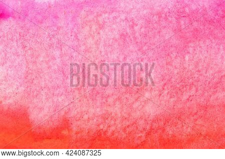 Abstract Pink Wet Watercolor Gradient Fill Or Aquarelle Background.