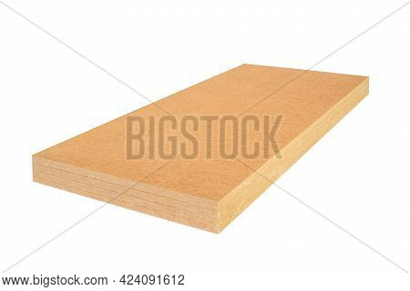 Wooden Layered Ecological Plate For Thermal Insulation Isolated On A White Background - Packshot