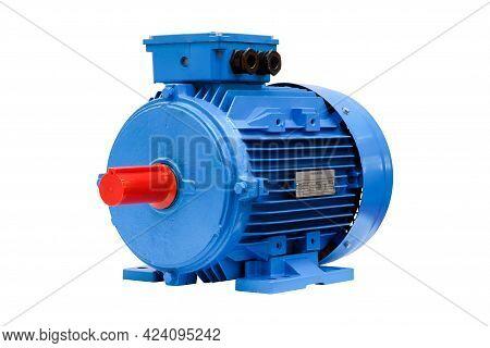 Industrial New Blue Water Pump, Motor Pump Medium Size For Work On Industrial Factory, Warehouse, Pr