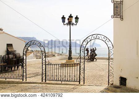 Altea, Alicante, Spain- June 12, 2021: Sculpture Called Suite Erotica Grecca By Antoni Miro, Exhibit