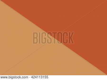 Composition of diagonally divided fawn and russet brown background. invitation or presentation design template background concept digitally generated image. nvitatio